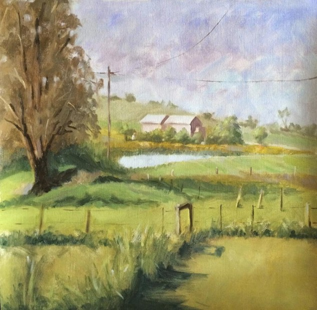 Looking for artwork online in Australia? View Afternoon in Denver, Victoria - Landscape artwork by Lucille Tam