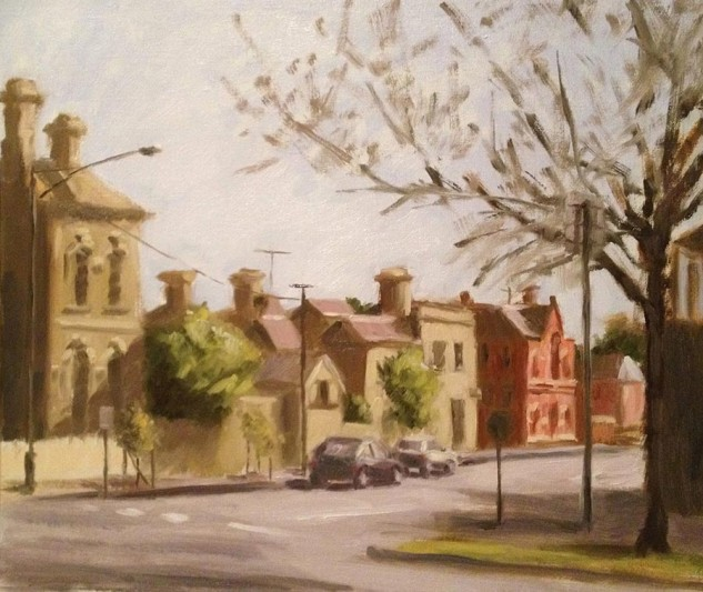 Looking for artwork online in Australia? View Afternoon in Parkville - Streetscape original artwork by Lucille Tam