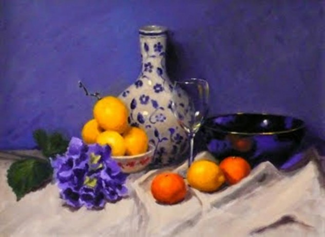 Looking for artwork online in Australia? View Blue Notes - Still Life original artwork by Lucille Tam