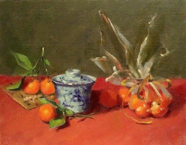 Looking for artwork online in Australia? View Cumquats - Still Life artwork by Lucille Tam
