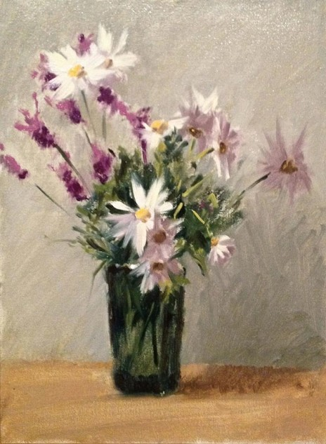 Looking for artwork online in Australia? View Daisies and Lavenders (NFS) - Still Life artwork by Lucille Tam