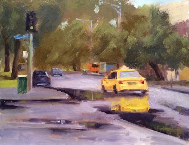 Looking for paintings for sale in Australia? View Driving through Puddles artwork by Lucille Tam