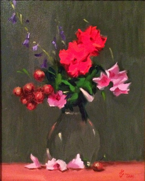 Looking for artwork online in Australia? View Flower Study - NFS - Still Life original artwork by Lucille Tam