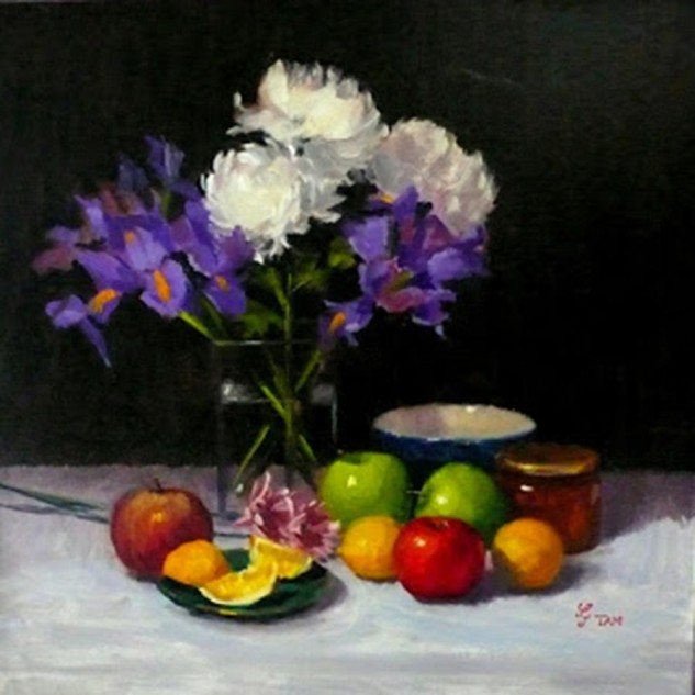 Looking for artwork online in Australia? View Flowers, Fruits and Marmalade - Still Life original artwork by Lucille Tam