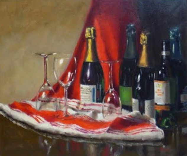 Looking for artwork online in Australia? View Happy Hour 2 - Still Life original artwork by Lucille Tam