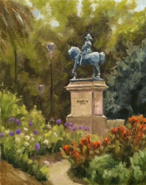 Looking for artwork online in Australia? View King Edward VII Statue, Queen Victoria Gardens, Melbourne - Streetscape artwork by Lucille Tam