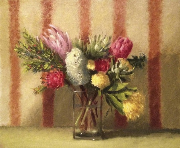 Looking for artwork online in Australia? View Native Flowers - Still Life original artwork by Lucille Tam