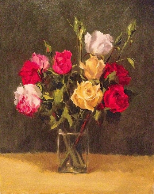 Looking for artwork online in Australia? View November Roses - Still Life artwork by Lucille Tam