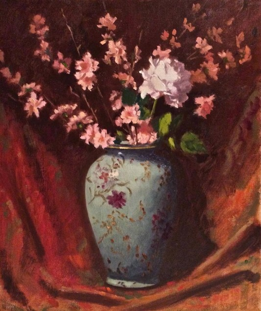 Looking for artwork online in Australia? View Oriental Vase with Blossoms - Still Life artwork by Lucille Tam