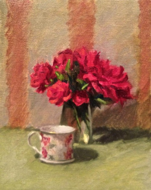 Looking for artwork online in Australia? View Red, Red Rose - Still Life artwork by Lucille Tam