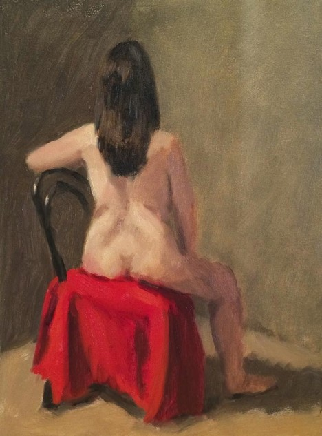 Looking for artwork online in Australia? View Seated Figure, Back - Figures and Portraits artwork by Lucille Tam