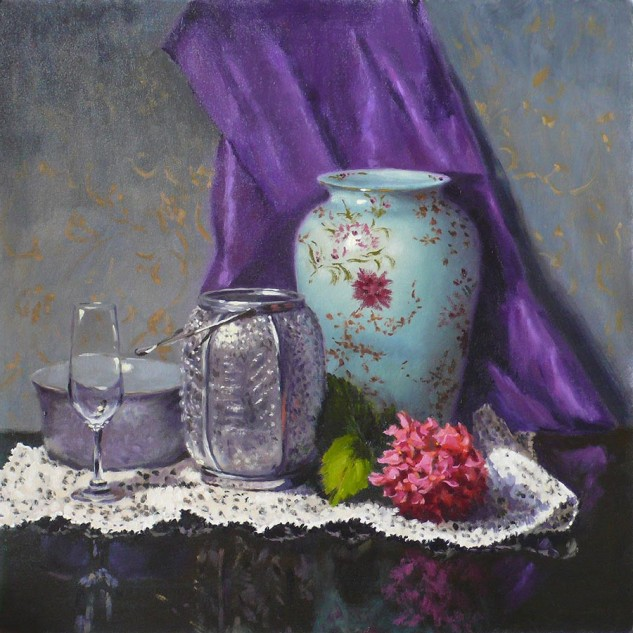 Looking for artwork online in Australia? View Silver Lantern - Still Life original artwork by Lucille Tam