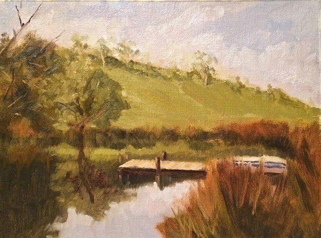 Looking for artwork online in Australia? View Still Pond, Denver, Victoria - Landscape artwork by Lucille Tam