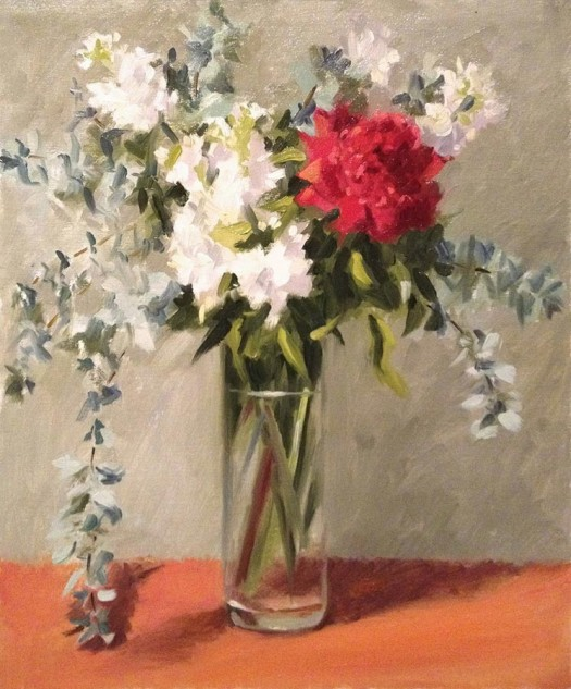 Looking for artwork online in Australia? View Waratah - Still Life original artwork by Lucille Tam